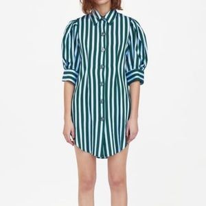 Zara striped shirt tunic dress